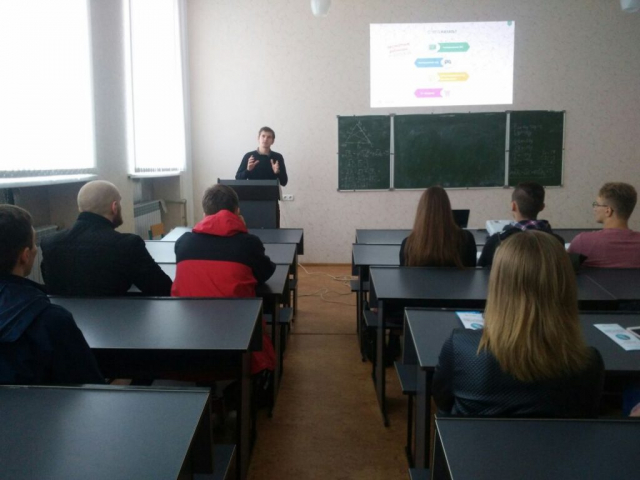 Attendee at Zaporizhzhya career fair