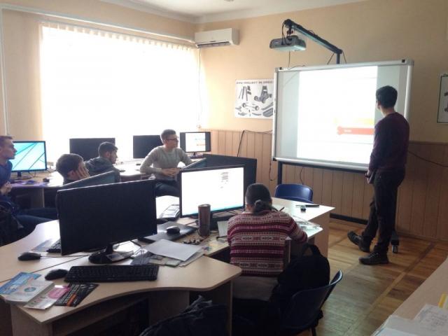 Presentation at Zaporizhzhya career fair