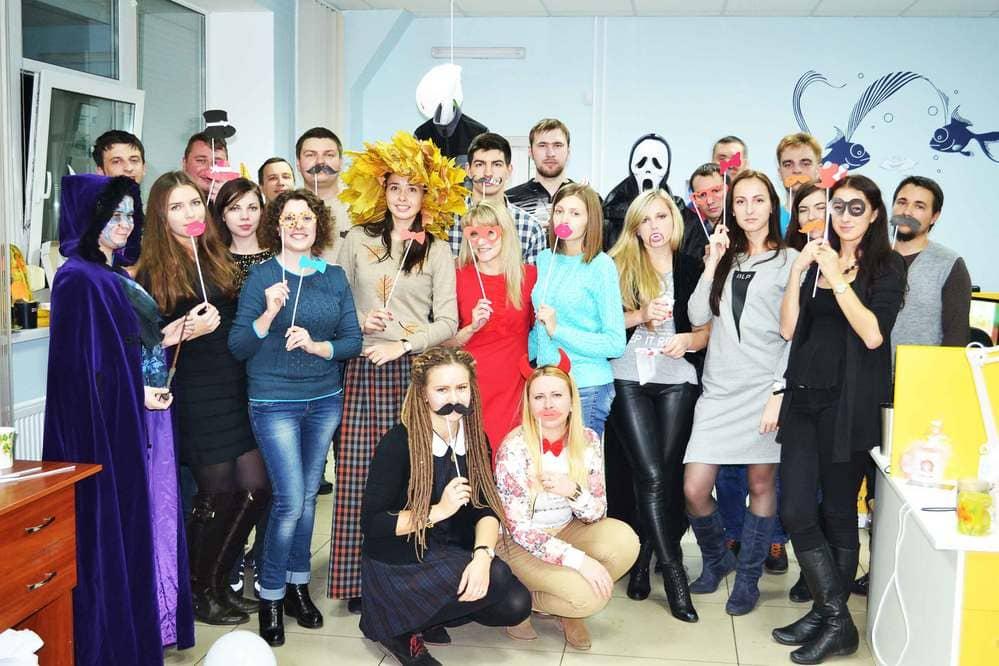 Halloween cellebration in Cherkassy