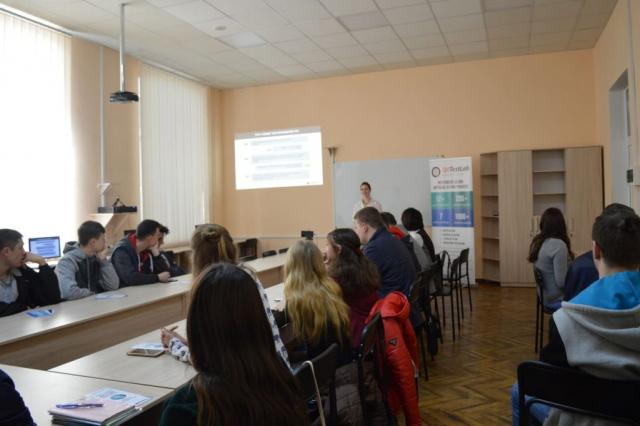 Job fair attendee in Poltava Agrarian Academy