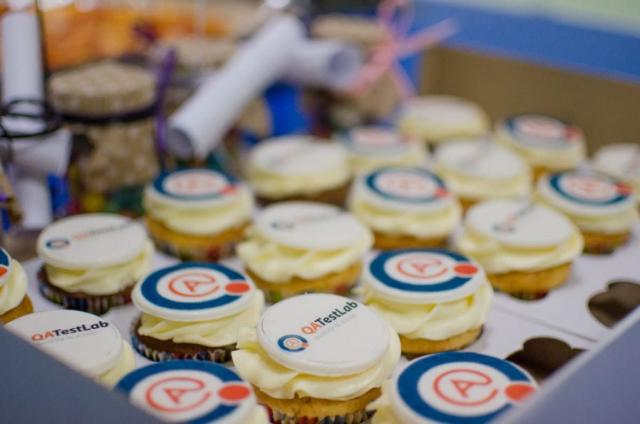 QATestLab cupcakes at company b-day
