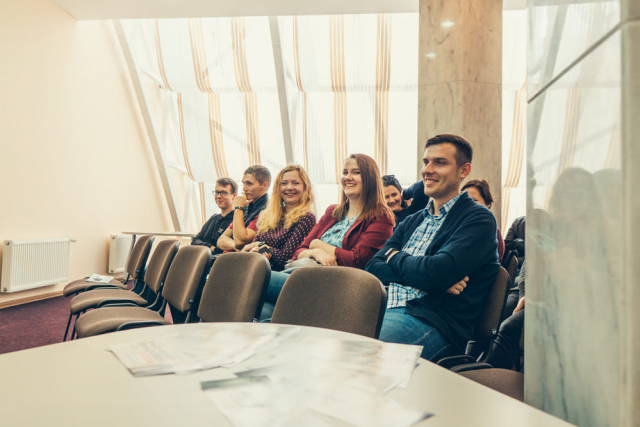 Listeners at Sumy coworking