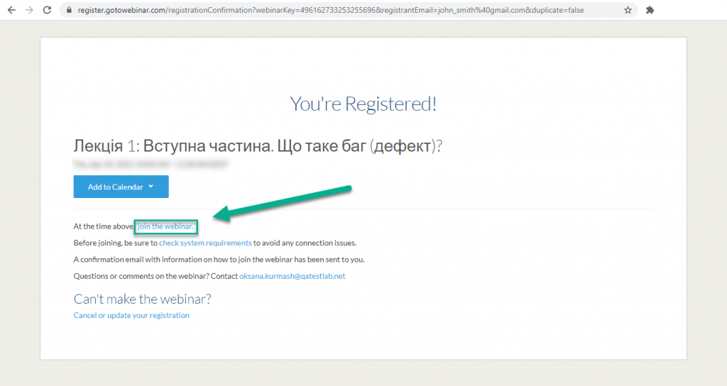 you`re registered