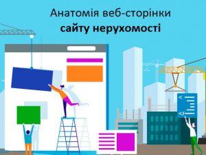 Анатомія web-сторінки сайту нерухомості
